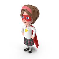Cartoon Girl Meghan Superhero PNG & PSD Images
