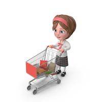 Cartoon Girl Meghan Shopping PNG & PSD Images