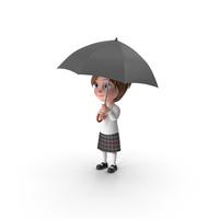 Cartoon Girl Meghan Holding Umbrella PNG & PSD Images