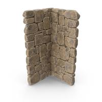 Modular Stone Wall Corner PNG & PSD Images