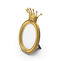 Oval Baroque Picture Frame PNG & PSD Images