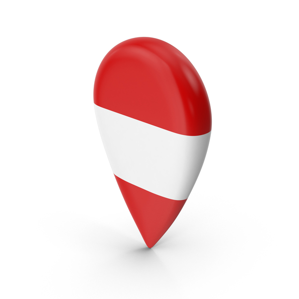 Austria Travel Pin Flag PNG & PSD Images