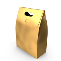 Recycled Paper Bag Gold PNG & PSD Images
