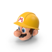 Builder Mario Head PNG & PSD Images