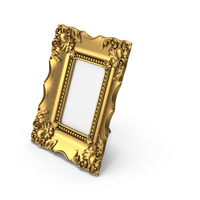 Baroque Picture Photo Frame Golden PNG & PSD Images
