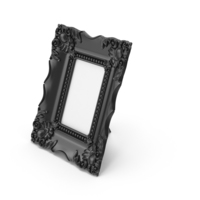 Baroque Picture Photo Frame Black PNG & PSD Images