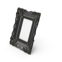 Baroque Picture Photo Frame Black Dust PNG & PSD Images