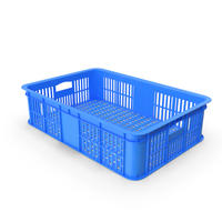 Blue Plastic Crate PNG & PSD Images