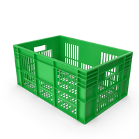 Green Plastic Crate PNG & PSD Images