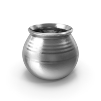 Silver Ceramic Pot With Whole Wheat PNG & PSD Images