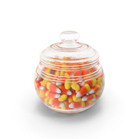 Candy Corn in Jar PNG & PSD Images