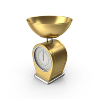 Gold Kitchen Scale PNG & PSD Images