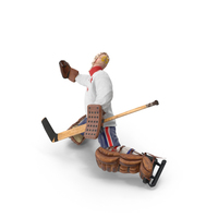 Ice Hockey Goalie Missing Pose PNG & PSD Images