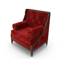 Red Velvet Armchair PNG & PSD Images