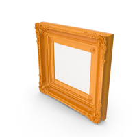 Orange  Baroque Picture PNG & PSD Images