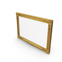Golden Baroque Picture Frame PNG & PSD Images