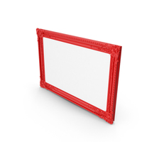Red Baroque Picture Frame PNG & PSD Images