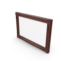 Wooden Brown Baroque Picture Frame PNG & PSD Images