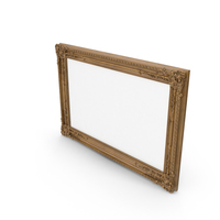 Wooden Oak Baroque Picture Frame PNG & PSD Images