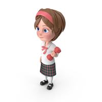 Cartoon Girl Meghan Lifting Dumbbell PNG & PSD Images