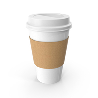 White Paper Cup with Cover PNG & PSD Images