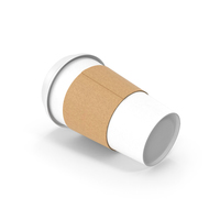 White Paper Cup with Cover Side PNG & PSD Images