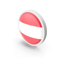 Austria Flag Button PNG & PSD Images