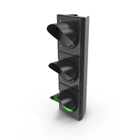 Traffic Light Single Green PNG & PSD Images