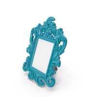 Baroque Photo Frame Blue-Green PNG & PSD Images