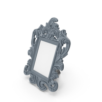 Baroque Photo Frame Grey PNG & PSD Images