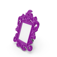 Baroque Photo Frame Purple PNG & PSD Images