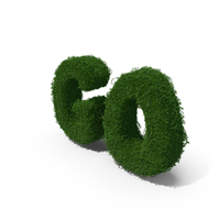 Boxwood GO Text PNG & PSD Images
