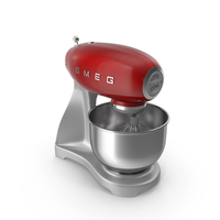 Smeg Stand Mixer Red PNG & PSD Images