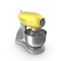 Smeg Stand Mixer Yellow PNG & PSD Images