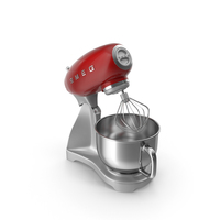 Red Smeg Stand Mixer PNG & PSD Images