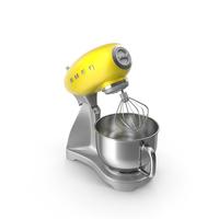 Yellow Smeg Stand Mixer PNG & PSD Images
