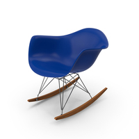 Eames Rocking Chair Blue PNG & PSD Images