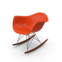 Eames Rocking Chair Orange PNG & PSD Images
