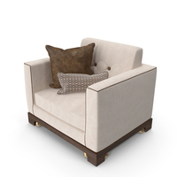 Armchair with Pillows PNG & PSD Images