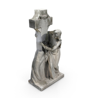 Woman With Cross Statue PNG & PSD Images