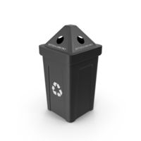 Black Recycling Bin PNG & PSD Images