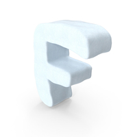 Snow Letter F PNG & PSD Images
