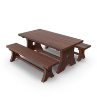 Table and Bench PNG & PSD Images