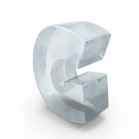 Ice Letter G PNG & PSD Images