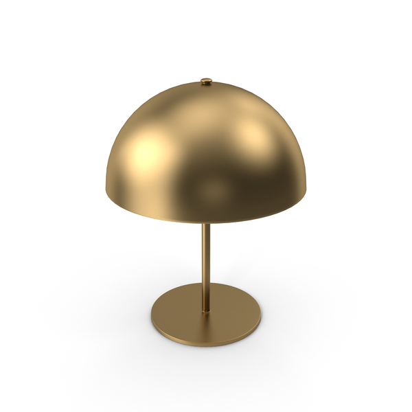 Brass Table Lamp PNG & PSD Images
