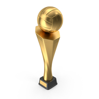 Trophy Cup Volleyball Gold PNG & PSD Images
