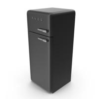 High Retro Refrigerator Black PNG & PSD Images
