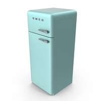 Pastel Green Blue Refrigerator PNG & PSD Images