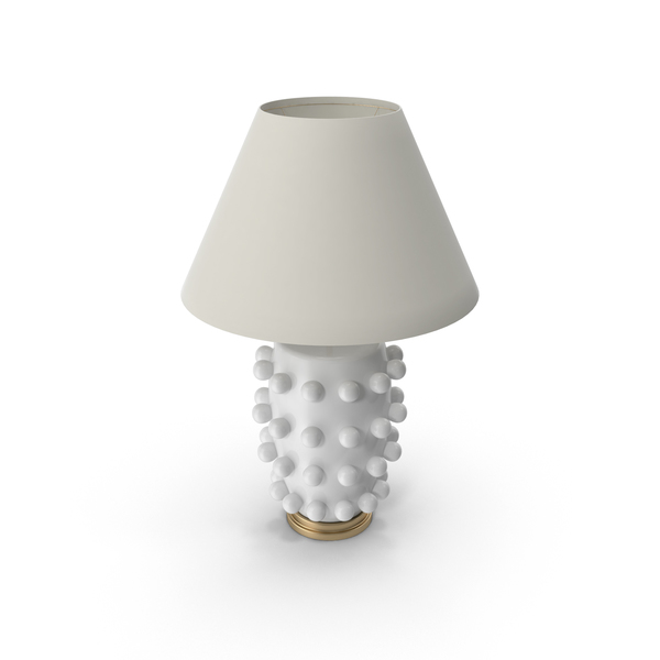 White Base Linden Table Lamp PNG & PSD Images