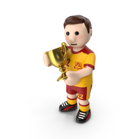Football Player Standing with the Cup PNG & PSD Images